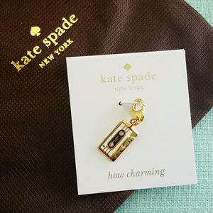 Kate Spade How Charming Cassette Tape Charm NWT